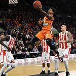 07.11.2018, ratiopharm arena, Neu-Ulm, GER, EC, ratiopharm ulm vs Roter Stern Belgrad, <br /> im Bild Mouhammad Faye (Belgrad, #11), Patrick Miller (Ulm, #2), Maik Zirbes (Belgrad, #33)<br /> <br /> Foto &copy; nordphoto / Hafner