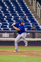 AZL Cubs catcher Carlos Diaz (2) at bat against the AZL Brewers on August 24, 2017 at Maryvale Baseball Park in Phoenix, Arizona. AZL Cubs defeated the AZL Brewers 9-1. (Zachary Lucy/Four Seam Images)