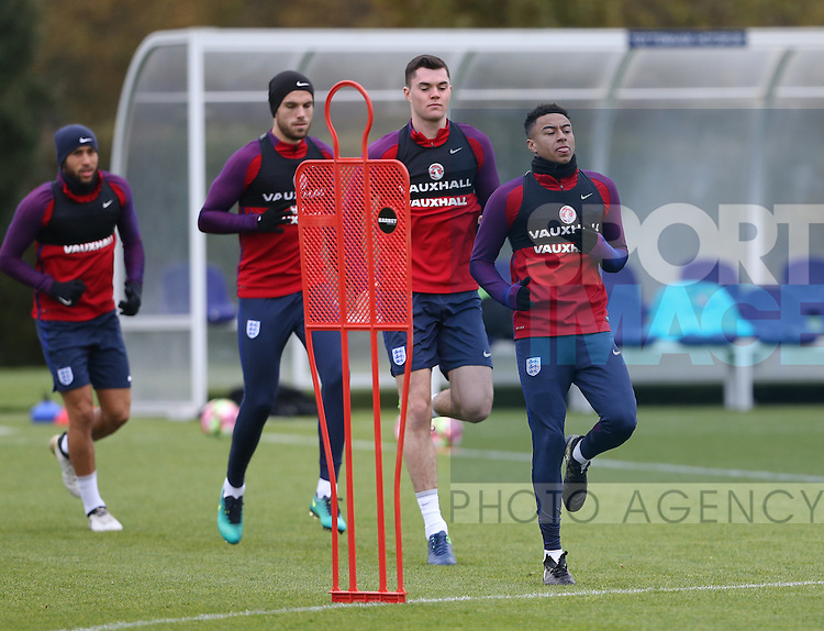 England's Jesse Lingard in action during training at Tottenham Hotspur training centre, London. Picture date November 14th, 2016 Pic David Klein/Sportimage