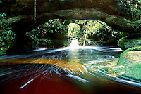 Cachoeira das Arcos ( Arcos Falls ) at Presidente Figueiredo, Amazonas State, Brazil - ecotourism at Amazon rainforest.