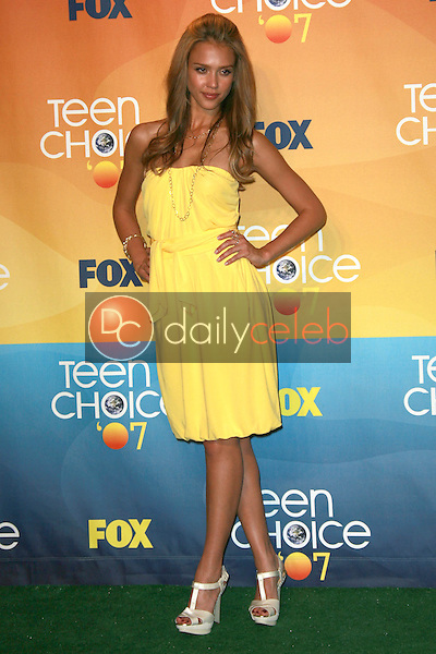 Jessica Alba<br />in the press room of the 2007 Teen Choice Awards. Gibson Amphitheater, Universal City, CA. 08-26-07<br />Dave Edwards/DailyCeleb.com 818-249-4998