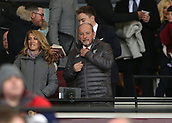 4th February 2019, London Stadium, London, England; EPL Premier League football, West Ham United versus Liverpool; Liverpool CEO Peter Moore observing from the corporate box