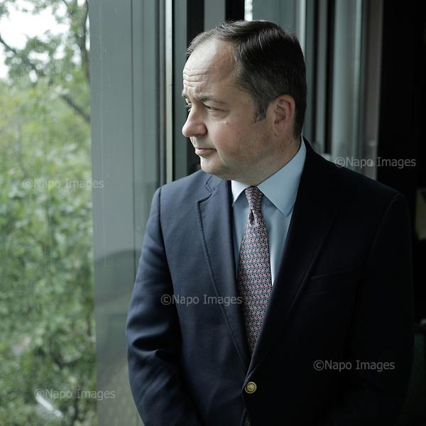 WARSAW, POLAND, July 20, 2017:<br /> Konrad Szymanski deputy foreign affairs ministery in PiS (Law&amp;Justice) government is posing at his cabinet.<br /> (Photo by  Piotr Malecki / Napo Images) <br /> **** <br /> WARSZAWA, 20/07/2017:<br /> Konrad Szymanski, wiceminister spraw zagranicznych w rzadzie PiS pozuje w swoim gabinecie w MSZ.<br /> Fot:  Piotr Malecki / Napo Images