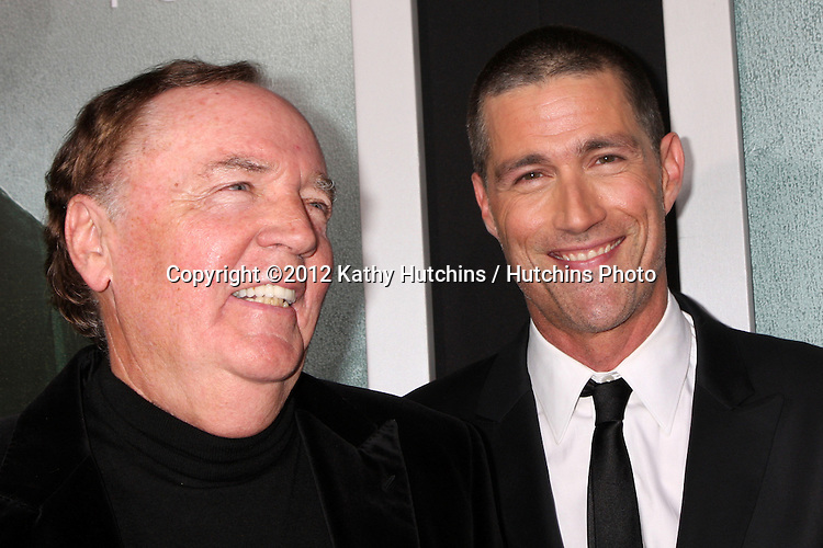 """LOS ANGELES - OCT 15:  James Patterson, Matthew Fox arrives at the """"Alex Cross"""" Premiere at ArcLight Cinemas Cinerama Dome on October 15, 2012 in Los Angeles, CA"""