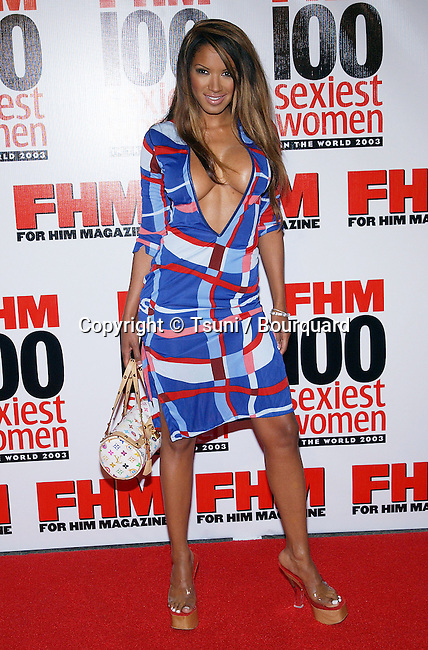 """Tracy Bingham arriving at the """"  FHM - Sexist Party of The Year """" at the Raleigh Studios in Los Angeles. June 5, 2003."""