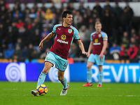 Burnley's Jack Cork<br /> <br /> Photographer Ashley Crowden/CameraSport<br /> <br /> The Premier League - Swansea City v Burnley - Saturday 10th February 2018 - Liberty Stadium - Swansea<br /> <br /> World Copyright &copy; 2018 CameraSport. All rights reserved. 43 Linden Ave. Countesthorpe. Leicester. England. LE8 5PG - Tel: +44 (0) 116 277 4147 - admin@camerasport.com - www.camerasport.com
