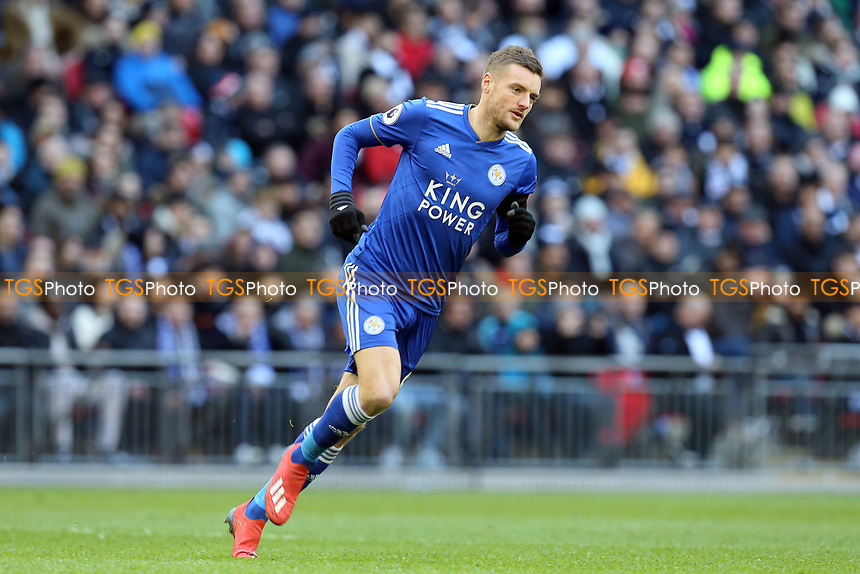 Jamie Vardy of Leicester City during Tottenham Hotspur vs Leicester City, Premier League Football at Wembley Stadium on 10th February 2019