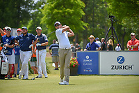 Charl Schwartzel (RSA) watches his tee shot on 15 during Round 3 of the Zurich Classic of New Orl, TPC Louisiana, Avondale, Louisiana, USA. 4/28/2018.<br /> Picture: Golffile | Ken Murray<br /> <br /> <br /> All photo usage must carry mandatory copyright credit (&copy; Golffile | Ken Murray)