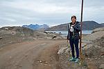 Snow Pole Kulusuk Greenland