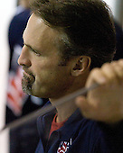 Mark Osiecki (US - Assistant Coach) - Team USA defeated Team Russia 6-0 in their final game during the 2009 USA Hockey National Junior Evaluation Camp on Saturday, August 15, 2009, in the USA (NHL-sized) Rink in Lake Placid, New York.