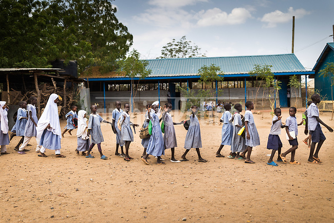 Children in a school at Kakuma refugee campo in Kenya.Kakuma refugee camp in North of Kenya. Kakuma is the site of a UNHCR refugee camp, established in 1991. The population of Kakuma town was 60,000 in 2014, having grown from around 8,000 in 1990. In 1991, the camp was established to host the 12,000 unaccompanied minors who had fled the war in Sudan and came walking from camps in Ethiopia.