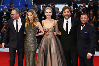 VENICE, ITALY - SEPTEMBER 05: Darren Aronofsky, Michelle Pfeiffer, Jennifer Lawrence, Javier Bardem and Scott Franklin attend 'Mother' Red Carpet during 74th Venice Film Festival at Palazzo Del Cinema on September 5, 2017 in Venice, Italy. (Mark Cape/insidefoto)