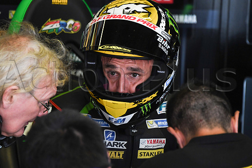 June 9th 2017, Barcelona Circuit, Montmelo, Catalunya, Spain; MotoGP Grand Prix of Catalunya, Free practice day; Johann Zarco (Monster Yamaha Tech3) during the free practice sessions