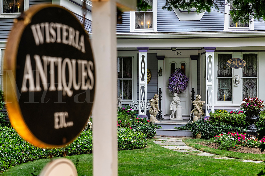 Wisteria Antique shop, Brewster, Cape Cod, Massachusetts, USA.