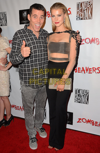18 March 2015 - Los Angeles, California - Steve-O, Lexi Atkins. Arrivals for the Los Angeles premiere of &quot;Zombeavers&quot; held at The Theaters at Ace Hotel. <br /> CAP/ADM/BT<br /> &copy;BT/ADM/Capital Pictures