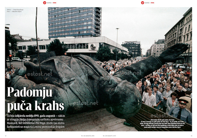 Latvian monthly magazine IR on 25 years of Latvian independence, 08.2016.<br />