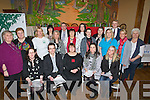 BUDS: North and East Kerry Development in conjuction with Buds Family Resource Centre Ballyduff, who invited paterins to the launch of The Ballyduff Community of Ellence in Promoting Mental Heralth Awareness and well being and invited Mary McEvoy (RTE fame) to talk to all in Ballyduff Community Center. Front l-r: Karen Connor, Rabert Carey, Mary McEvoy, Lorraine Bowler and katie McCabe. Centre l-r: Nora Lucid,Triona Houlihan, Marie Nash, Liz Sheehan, Tina Moriarty, Antonette Clarke,karina Griffin, Eliaine Galvin and Deirdre O'Sullivan. Back l-r: Elaine Shine, Ger O'Brien, Kerry Nolan, Zara O'Dowd and Damien Culhane.