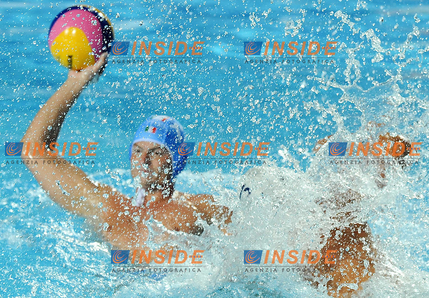 Roma 22nd July 2009 - 13th Fina World Championships From 17th to 2nd August 2009.Water Polo Men's.ITA -ROM ..ITALY  .CT. Campagna Alessandro.1 Tempesti Stefano.2 Mistrangelo Federico.3 Giorgetti Alex.4 Buonocore Fabrizio.5 Gallo Valentino.6 Felugo Maurizio.7 Mangiante Andrea.8 Rizzo Valerio.9 Figari Niccolò.10 Calcaterra Alessandro.11 Aicardi Matteo.12 Fiorentini Goran.13 Negri Tommaso..ROMANIA.CT Kovaks Istvan.1 Dragusin Eduard Mihai.2 Radu Cosmin Alexandru.3 Negrean Tiberiu.4 Diaconu Nicolae Virgil.5 Iosep Andrei.6 Busila Dan Andrei.7 Dunca Cheorghe Florin.8 Matei Guiman Alexandru.9 Andrei Dina Edward.10 Georgescu Ramiro.11 Ghiban Alexandru.12 Kadar Kalman.13 Stoenescu Dragos Constantin..photo: Roma2009.com/InsideFoto/SeaSee.com