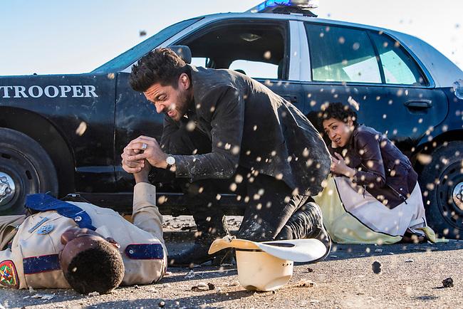 Dominic Cooper as Jesse Custer, Ruth Negga as Tulip O'Hare in Preacher, Season 2, Episode 1 - Photo Credit: Skip Bolen/AMC