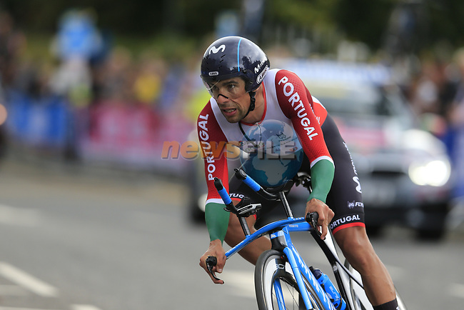Nelson Oliveira (POR) in action during the Men Elite Individual Time Trial of the UCI World Championships 2019 running 54km from Northallerton to Harrogate, England. 25th September 2019.<br /> Picture: Eoin Clarke | Cyclefile<br /> <br /> All photos usage must carry mandatory copyright credit (© Cyclefile | Eoin Clarke)