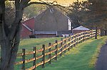 Springtime Barn with fence, Berks County, Pennsylvania