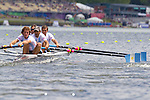 Rowing, Argentina, Men's Lightweight Four, Nicolai Fernandez, Diego Gallina, Carlo Lauro, Pablo Mahnic, stroke, Tuesday November 2, 2010,  2010 FISA World Rowing Championships, Lake Karapiro, Hamilton, New Zealand,
