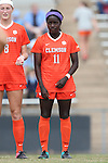 25 October 2015: Clemson's Catrina Atanda. The University of North Carolina Tar Heels hosted the Clemson University Tigers at Fetzer Field in Chapel Hill, NC in a 2015 NCAA Division I Women's Soccer game. UNC won the game 1-0.