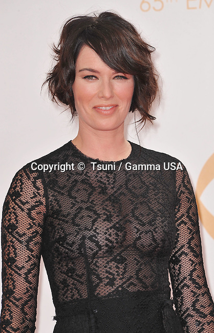 Lena Headey 364 arriving at the 65th Primetime Emmy Awards at the Nokia Theatre in Los Angeles.