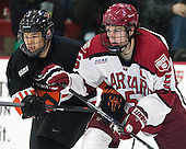 Jonathan Liau (Princeton - 10), Dan Ford (Harvard - 5) - The Harvard University Crimson defeated the Princeton University Tigers 3-2 on Friday, January 31, 2014, at the Bright-Landry Hockey Center in Cambridge, Massachusetts.