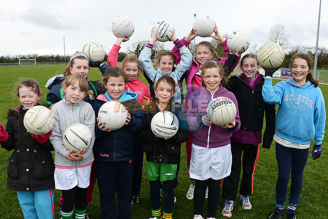 Croke Park here we come - some of the participants in the Gaelic4Girls project in Duleek. www.newsfile.ie