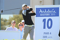 Oliver Wilson (ENG) during the 2nd day at the  Andalucía Masters at Club de Golf Valderrama, Sotogrande, Spain. .Picture Fran Caffrey www.golffile.ie