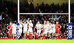England celebrate their win against Wales - RBS 6Nations 2015 - Wales  vs England - Millennium Stadium - Cardiff - Wales - 6th February 2015 - Picture Simon Bellis/Sportimage