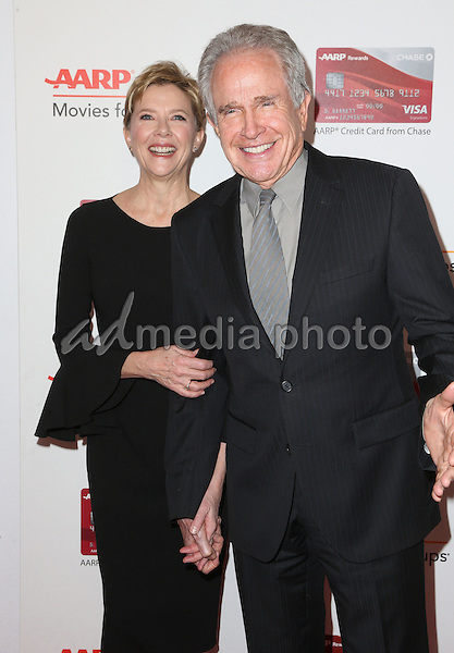 06 February 2017 - Beverly Hills, California - Annette Bening, Warren Beatty. AARP 16th Annual Movies For Grownups Awards held at the Beverly Wilshire Four Seasons Hotel. Photo Credit: F. Sadou/AdMedia