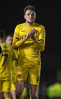 Fleetwood Town's Harry Souttar applauds the fans at the final whistle <br /> <br /> Photographer David Horton/CameraSport<br /> <br /> The EFL Sky Bet League One - Portsmouth v Fleetwood Town - Tuesday 10th March 2020 - Fratton Park - Portsmouth<br /> <br /> World Copyright © 2020 CameraSport. All rights reserved. 43 Linden Ave. Countesthorpe. Leicester. England. LE8 5PG - Tel: +44 (0) 116 277 4147 - admin@camerasport.com - www.camerasport.com