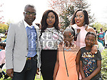 Temi Thomas Aina who was confirmed in the Holy Family church Ballsgrove pictured with her family. Photo:Colin Bell/pressphotos.ie
