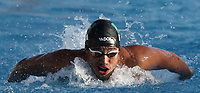 Swimming 55&deg; Settecolli trophy Foro Italico, Rome on June 30, June 2018.<br /> Swimmer Luiz Altamir Melo, of Brazil, competes in the men's 100 meters Butterfly at the Settecolli swimming trophy in Rome, on June 30, 2018.<br /> UPDATE IMAGES PRESS/Isabella Bonotto