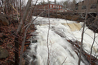Nashua River cascade, Fitchburg, MA paper mill