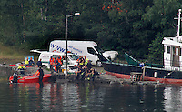 (Oslo July 23, 2011) Search and rescue teams looking for missing teenagers, the day after a shooting spree by a lone gunman who killed over 80 youths at a political camp.  <br /> <br /> A large vehicle bomb was detonated near the offices of Norwegian Prime Minister Jens Stoltenberg on 22 July 2011. Although Stoltenberg was reportedly unharmed the blast resulted in several injuries and deaths. <br /> Another terrorist attack took place shortly afterwards, where a man killed over 80 children and youths attending a political camp at Ut&oslash;ya island. <br /> <br /> Anders Behring Breivik was arrested on the island and has admitted to carrying out both attacks.<br /> (photo:Fredrik Naumann/Felix Features)