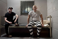 Logan Lucky (2017) <br /> Behind the scenes photo of Daniel Craig &amp; Steven Soderbergh<br /> *Filmstill - Editorial Use Only*<br /> CAP/KFS<br /> Image supplied by Capital Pictures