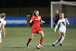 SALEM, VA - DECEMBER 3:Tayloy Cohen (28) looks to pass during theDivision III Women's Soccer Championship held at Kerr Stadium on December 3, 2016 in Salem, Virginia. Washington St Louis defeated Messiah 5-4 in PKs for the national title. (Photo by Kelsey Grant/NCAA Photos)