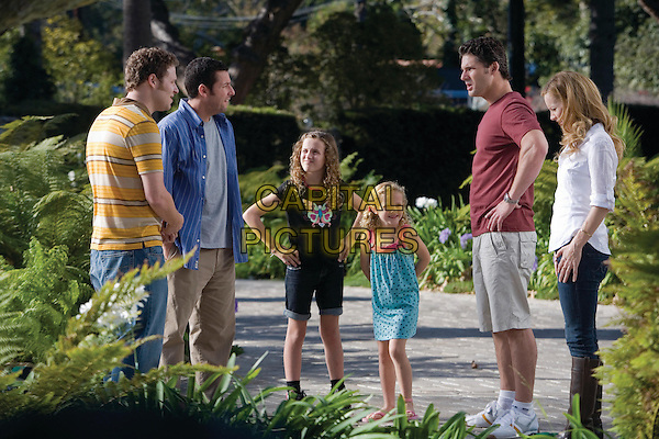 SETH ROGEN, ADAM SANDLER, MAUDE APATOW, IRIS APATOW, ERIC BANA & LESLIE MANN.in Funny People .*Filmstill - Editorial Use Only*.CAP/FB.Supplied by Capital Pictures.
