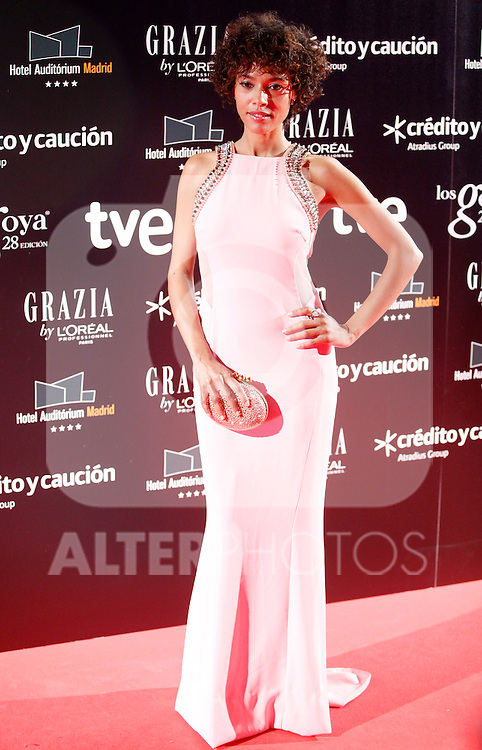 Judith Diakhate attends Goya Cinema Awards 2014 red carpet at Centro de Congresos Principe Felipe on February 9, 2014 in Madrid, Spain. (ALTERPHOTOS/Victor Blanco)