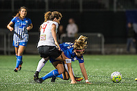 Allston, MA - Saturday Sept. 24, 2016: Elizabeth Eddy, Kathryn Schoepfer during a regular season National Women's Soccer League (NWSL) match between the Boston Breakers and the Western New York Flash at Jordan Field.