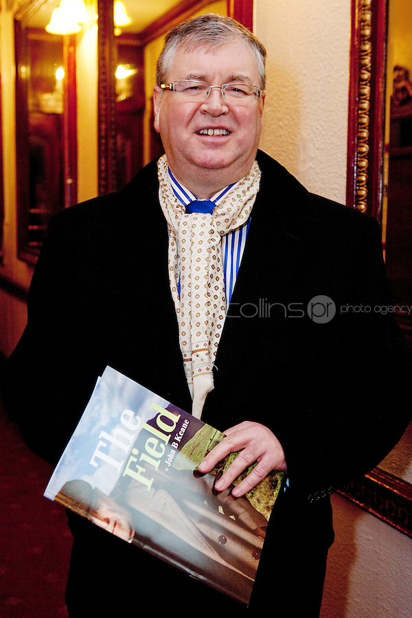 """NO REPRO FEE. 17/1/2010. The Field opening night. Joe Duffey is pictured at the Olympia Theatre for the opening night of John B Keanes 'The Field"""" Picture James Horan/Collins"""