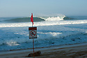Empty wave line up of Backdoor on the Northshore of Oahu in Hawaii.