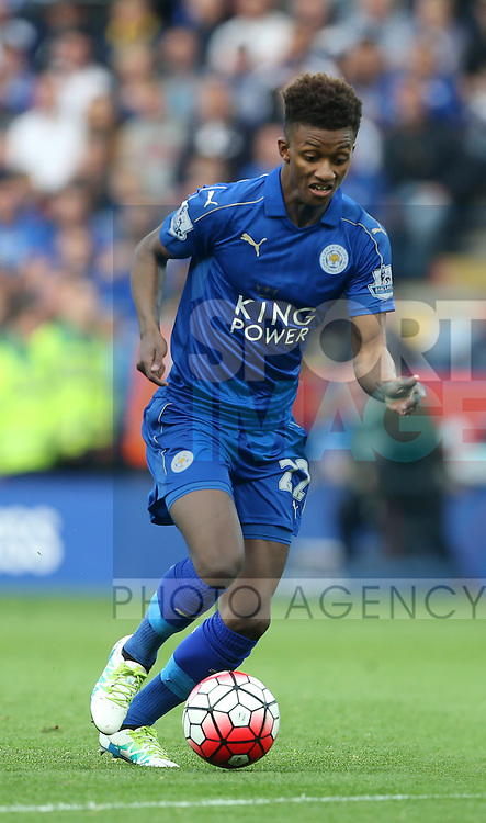 Leicester's Demarai Gray in action during the Barclays Premier League match at the King Power Stadium.  Photo credit should read: David Klein/Sportimage