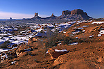 Amérique du Nord, Etats Unis, ouest, état de l'Arizona, Page, réserve Navajo, parc tribal Navajo de Monument Valley en hiver//North America, United States of America, west, Arizona State, Page, Navajo Reservation, Monument Valley Navajo Tribal Park in wintertime