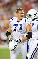 Sept. 27, 2009; Glendale, AZ, USA; Indianapolis Colts offensive tackle (71) Ryan Diem against the Arizona Cardinals at University of Phoenix Stadium. Indianapolis defeated Arizona 31-10. Mandatory Credit: Mark J. Rebilas-