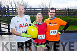 Colm Sheehy, Tess Whyte and David Walshe from Tralee ready to run the 10miler and 5k Fundraising run for the Kerry Hospice on Sunday.