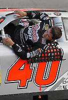 May 4, 2007; Richmond, VA, USA; Nascar Nextel Cup Series driver David Stremme (40) during qualifying for the Jim Stewart 400 at Richmond International Raceway. Mandatory Credit: Mark J. Rebilas